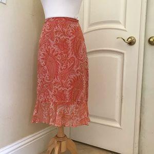 Banana Republic silk chiffon lined skirt
